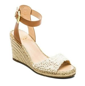 Vince Camuto Natural Tagger Lace Wedge